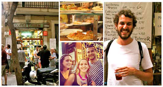 Travellers-Lucas,-Kristen-&-Peter-try-Catalan-Vermouth-on-their-Tapas-tour-edited-for-ALT