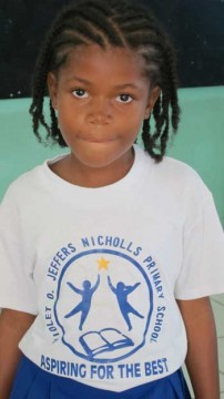 child at local primary school Nevis